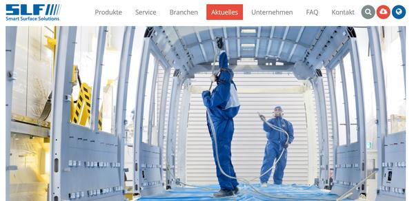 neue Website SLF Oberflächentechnik GmbH