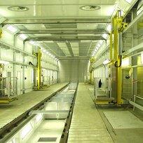 La primera gran instalación  para vehículos sobre carriles está en marcha (fábrica de Siemens en Krefeld)