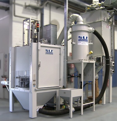 Automated blast machine suction-type blast cabinet