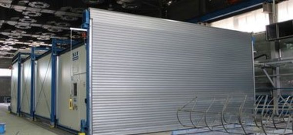 Telescopic and movable drying booth